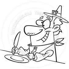 thanksgiving drawings cartoon thanksgiving dinner black and white line art by ron
