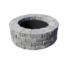 rumblestone fire pit insert shop nantucket pavers oxford 47 in w x 47 in l charcoal gray