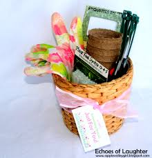 gardening gift basket gardening gift basket free printable tag echoes of laughter
