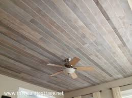 White Wood Ceiling by Diy Faux Rustic Plank Ceiling Via The Quaint Cottage Master