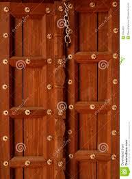 Wooden Door Beautiful Wooden Door With Golden Flowers On It Stock Photo