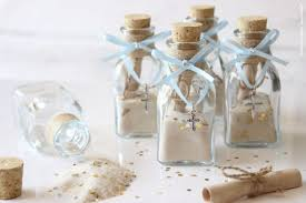 baptism favors baptism favors in a glass jar with cork footprints in the sand poem