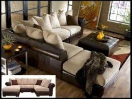 Fabric Leather Sofa Leather And Fabric Sectional Sofas Foter