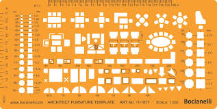 metric 1 200 scale architectural drawing template stencil
