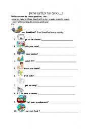 adverbs of frequency worksheet by ebru cimen