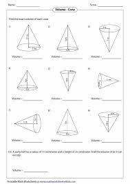 finding the surface area and volume of a cone lessons tes teach