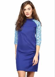 blue bodycon dress bodycon dress in blue summer cool fabric with printed sleeves the