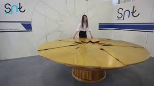 Round Dining Table Expandable Expandable Round Dining Table By Snt Design Com Youtube