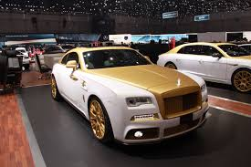 gold rolls royce geneva 2016 mansory rolls royce wraith palm edition 999 gtspirit
