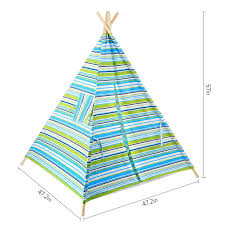 amazon com battop kids teepee tent cotton canvas two window