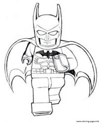 batman lego is running movie coloring pages printable