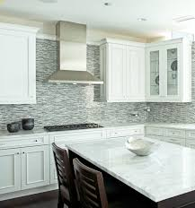 Gray Glass Kitchen Tiles Brown Gray Glass Mosaic Linear - Linear tile backsplash