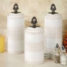 white kitchen canister sets safiya moroccan white kitchen canister set