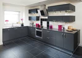 L Kitchen Designs Mesmerizing Small L Shaped Kitchen Design With Dark Accents Color