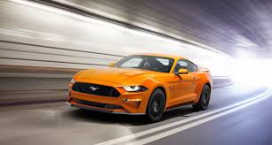orange mustang convertible 2018 ford mustang convertible presents itself with the top