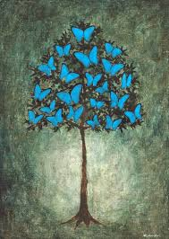 saatchi butterfly tree painting by rebouche