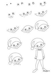 how to draw santa s christmas elf with step by step elves drawing