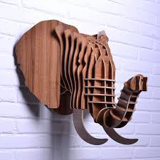 wooden animal wall european cool home decorations colorful wall animal hanging 3d