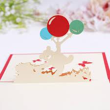 the bear with balloons handmade creative kirigami u0026 origami 3d pop
