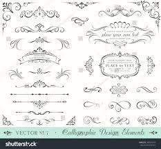 vintage ornate frames decorative ornaments flourish stock vector