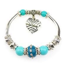 beads charm bracelet images Fashion silver plated jewelry love heart charm bracelets bangles jpg