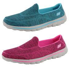 skechers go walk 2 upbeat womens 13640 slip on walking shoes ebay