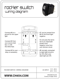 lighted rocker switch 12v lighted toggle switch wiring diagram kwikpik me within in at