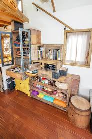 Micro House Interior Design Reclaimed Crate Staircase For Tiny House Interior Design