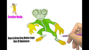 how to draw grey matter from ben 10 omniverse coloring pages kit