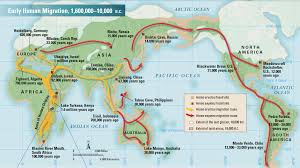 World Map Timeline by Early Human Migration The Open Timeline Big History U