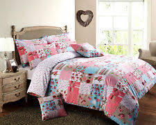 Shabby Chic Floral Bedding by Shabby Chic Pink Patchwork Floral Polka Dot Reversible Duvet Cover