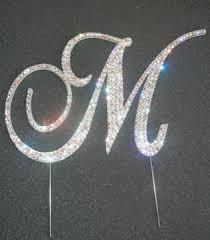 m cake topper m monogram cake topper cake wedding and weddings