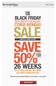 christmas tree sales black friday new york times black friday sale simple clean email design