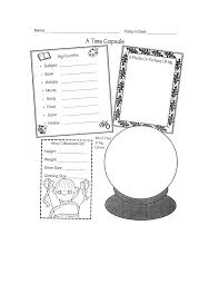 time capsule worksheet scout activity scout ideas