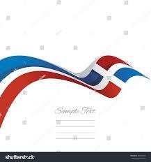 Dominican Republic Flag Abstract Cover Dominican Republic Flag Ribbon Stock Vector