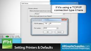 Print Production Manager Setting Up Printers U0026 Factory Defaults In Flexisign All Graphic