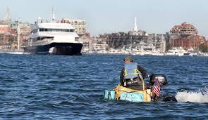 giant pumpkin traverses boston harbor carrying revere resident
