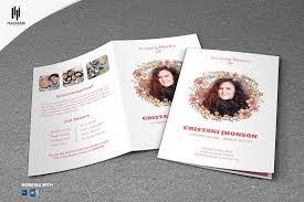 Funeral Programs Printing Printable Funeral Program Template Brochure Templates Creative