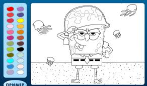 spongebob squarepants coloring pages for kids spongebob