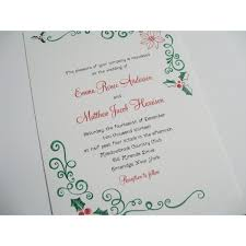 Christmas Wedding Invitations Christmas Wedding Invitations Style 675 Whimsicalprints Com