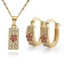 gold earrings price in pakistan showy fill diamond clover gold plate jewelry sets necklaces