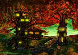 Amazing Tree Houses by Beautiful Tree House Fantasy Fairy Tale Painting Amazing Tree