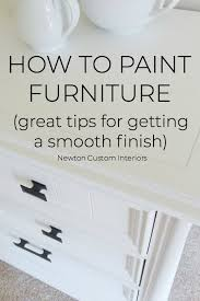 how do i get a smooth finish on kitchen cabinets how to paint furniture