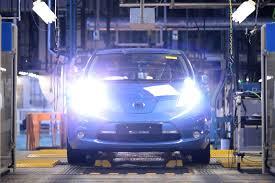 nissan leaf ads nissan leaf ev series production begins at oppama plant in japan