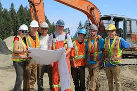viu heavy equipment operator students really dig habitat for