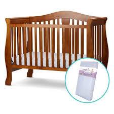Mattress For Convertible Crib La Baby Avalon 4 In 1 Convertible Crib With Foam Mattress Fmc