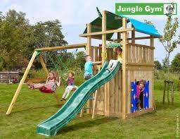 kids outdoor climbing frames fort playhouse u0026 2 swing