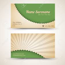 back business card vector style retro vintage business card both front and