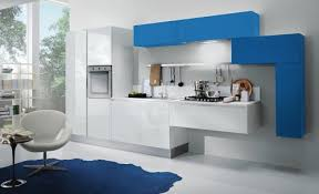 White And Blue Kitchen - dadka u2013 modern home decor and space saving furniture for small