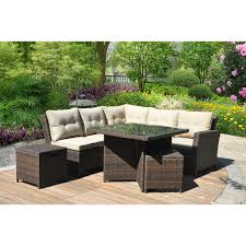 Patio Dining Set Sale Patio Patio Dining Set With Bench Wood Patio Set Outdoor